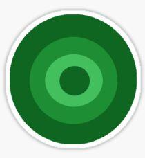 Green Target  Sticker