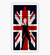 12th Doctor Union Jack silhouette Sticker