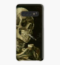 Vincent Van Gogh Skeleton Smoking Case/Skin for Samsung Galaxy