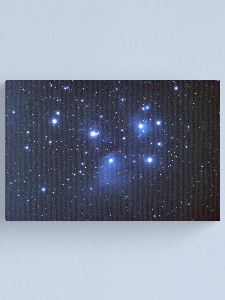 Alternate view of M45 seven sisters Canvas Print