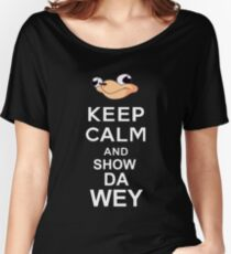 Ugandan Knuckles Keep Calm Transparent Women's Relaxed Fit T-Shirt