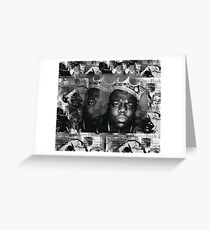 biggie and kate (black and white) Greeting Card