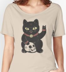 Black Cat Women's Relaxed Fit T-Shirt