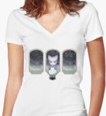 Mystic Miku   Crystal Ball & Zodiac   White Fitted V-Neck T-Shirt