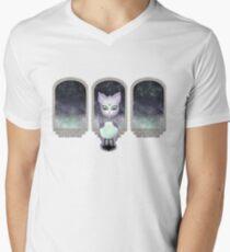 Mystic Miku   Crystal Ball & Zodiac   White V-Neck T-Shirt