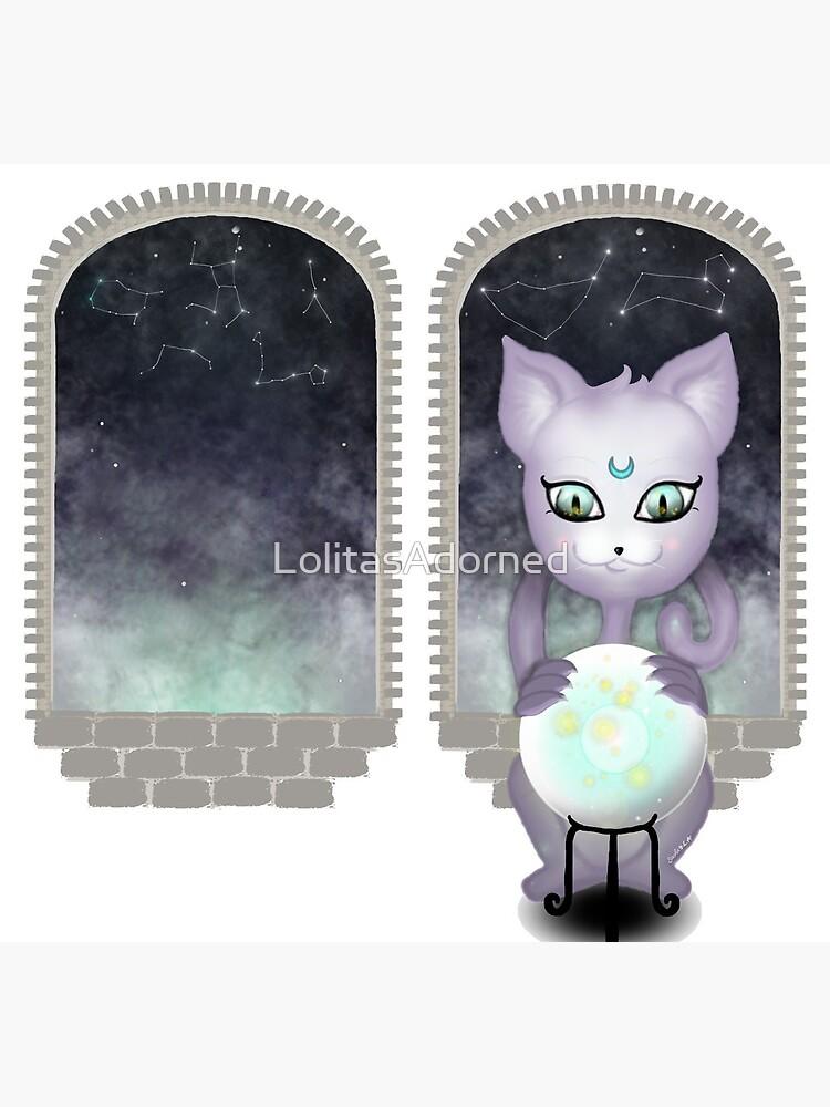 Mystic Miku | Crystal Ball & Zodiac | White by LolitasAdorned