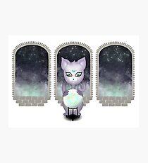 Mystic Miku | Crystal Ball & Zodiac | White Photographic Print