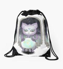 Mystic Miku | Crystal Ball & Zodiac | White Drawstring Bag
