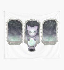 Mystic Miku | Crystal Ball & Zodiac | White Wall Tapestry