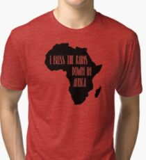I Bless the Rains down in Africa Tri-blend T-Shirt