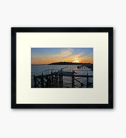 Sunset over Brownsea Framed Print