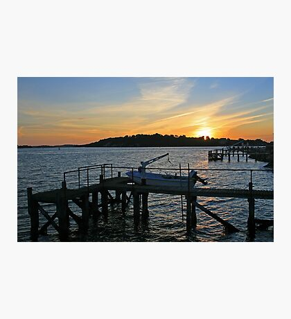 Sunset over Brownsea Photographic Print