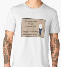 Eating Pet hair helps your tail wag! Men's Premium T-Shirt