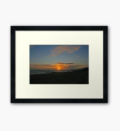 Boscombe Sunset Framed Print