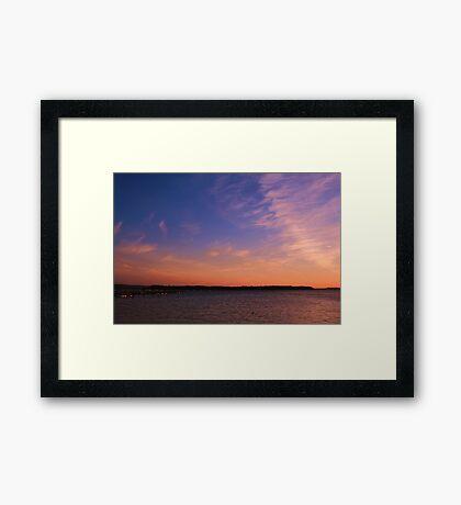 Brownsea Sundown Framed Print