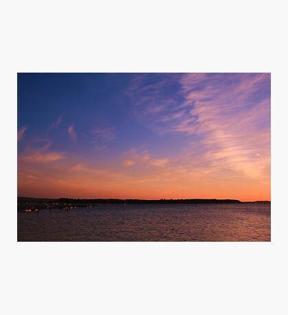 Brownsea Sundown Photographic Print