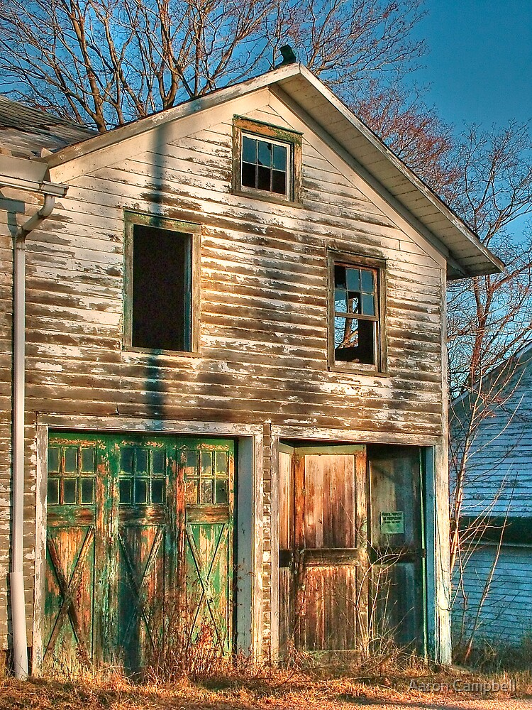 The Weathered Barn Doors by Aaron Campbell