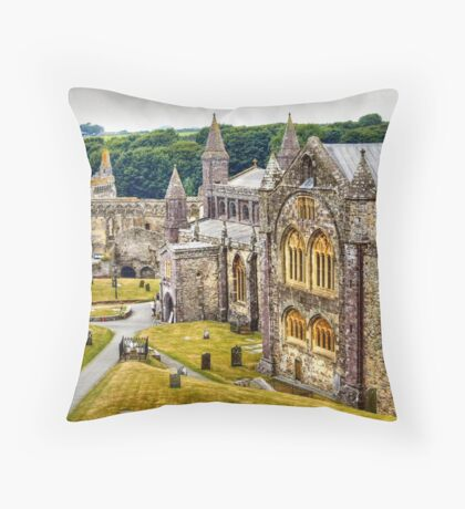 St David's Cathedral Throw Pillow