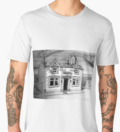 258 - BULL'S HEAD, RHOS - DAVE EDWARDS - INK (2015) Men's Premium T-Shirt