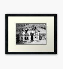 258 - BULL'S HEAD, RHOS - DAVE EDWARDS - INK (2015) Framed Print