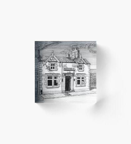 258 - BULL'S HEAD, RHOS - DAVE EDWARDS - INK (2015) Acrylic Block
