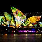 Scaley Sails - Sydney Vivid Festival - Australia by Bryan Freeman