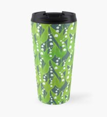Lily of the Valley Floral Pattern Travel Mug