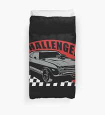 Dodge Challenger | Grey - Red - White Duvet Cover