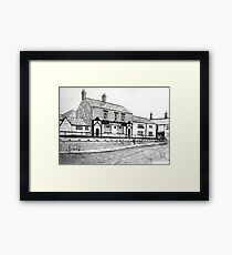264 - HORSE & JOCKEY, PONCIAU  - DAVE EDWARDS - INK - 2017 Framed Print