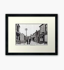 134 - HIGH STREET, RHOSLLANERCHRUGOG, WALES - DAVE EDWARDS Framed Print