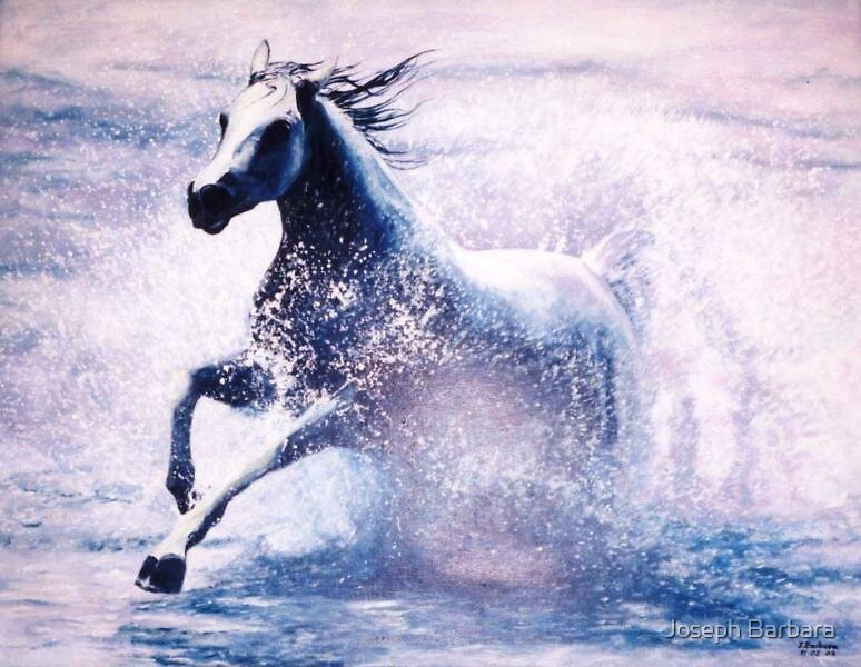 Splashing Arabian Mare by Joseph Barbara