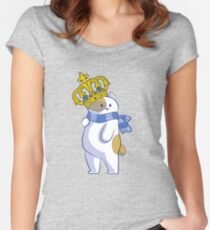 Adorable Cat King Women's Fitted Scoop T-Shirt