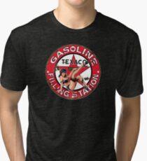 Texaco Retro Sign Tri-blend T-Shirt