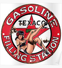 Texaco Retro Sign Poster