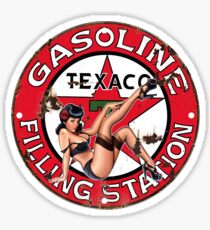 Texaco Retro Sign Sticker