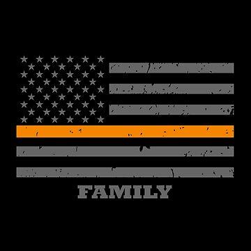 Thin Orange Line Family by bluelinegear