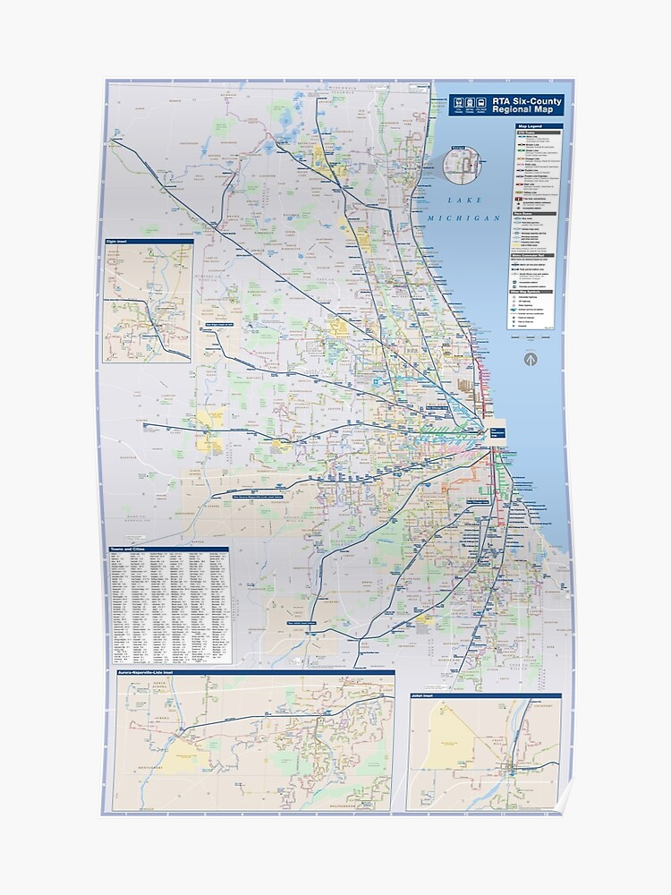 Chicago Train Map on