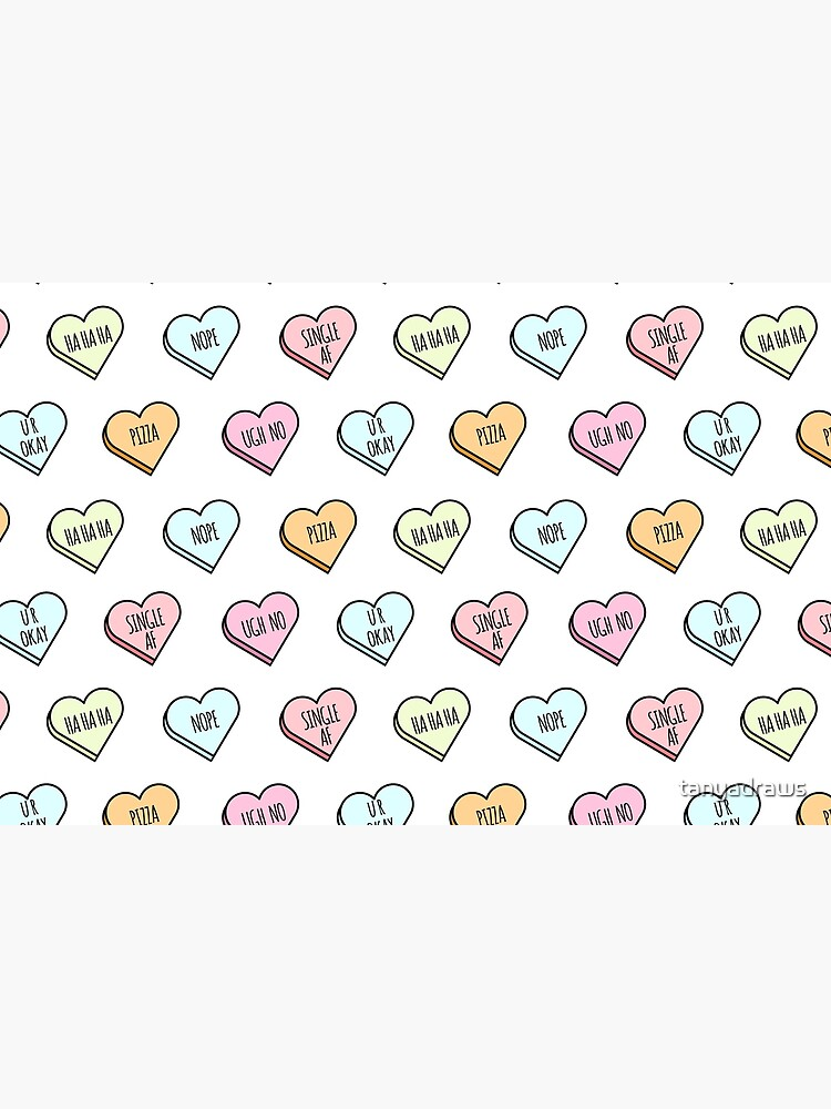 Sassy & Sarcastic Candy Heart Pattern by tanyadraws
