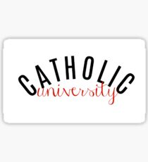Catholic University Sticker