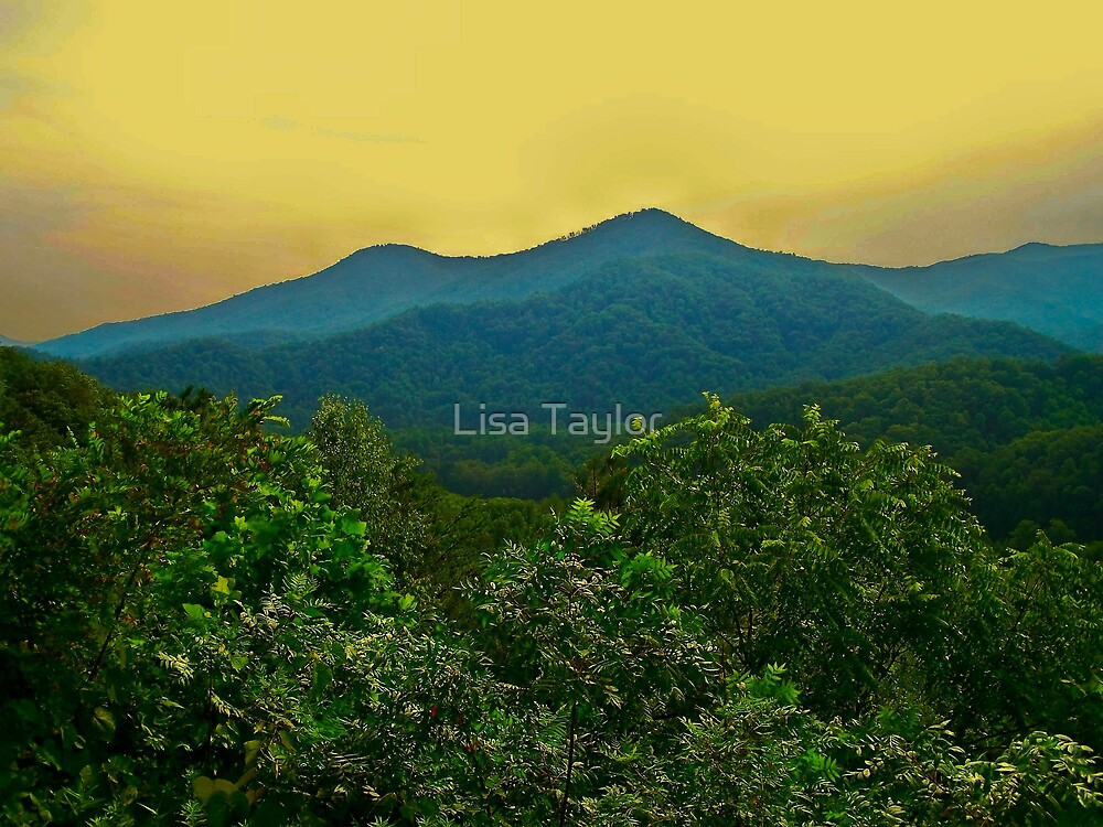 Sunset on the Mountains by Lisa Taylor