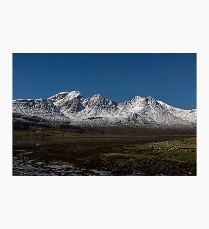 Bla Bheinn( Blaven) By Moonlight Photographic Print