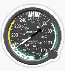 Airspeed Indicator Sticker Sticker