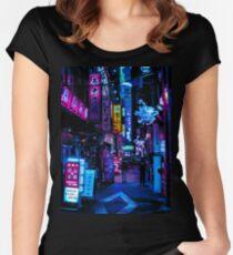 Blade Runner Vibes Tailliertes Rundhals-Shirt