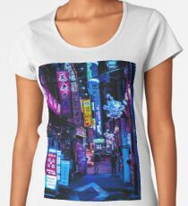 Blade Runner Vibes Premium Rundhals-Shirt