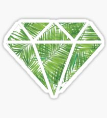 Palm Tree Diamond Sticker