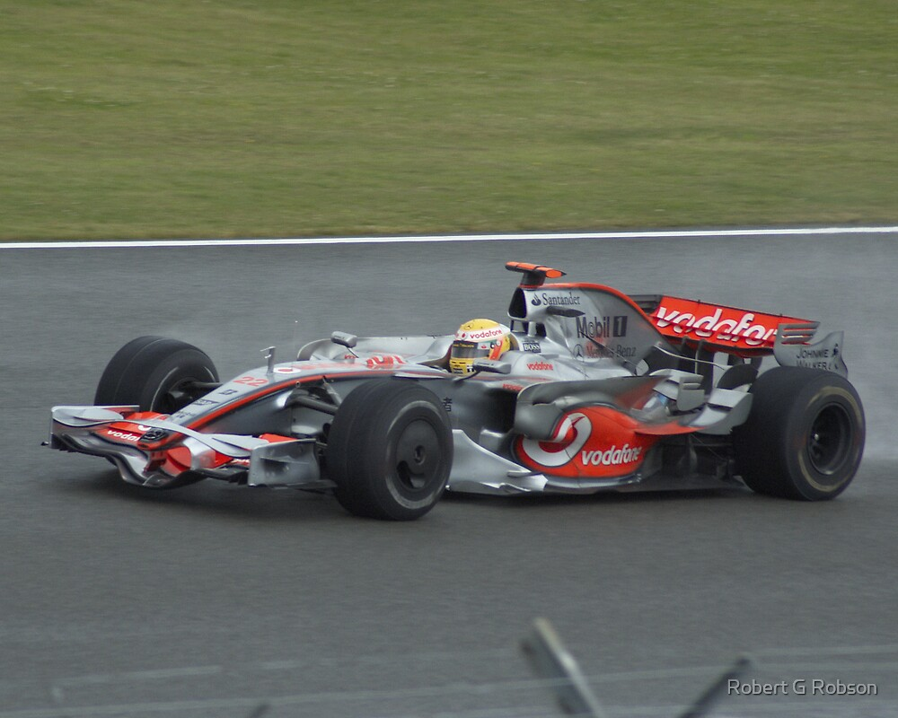 Lewis Hamilton at Silverstone 2008 by Robert G Robson