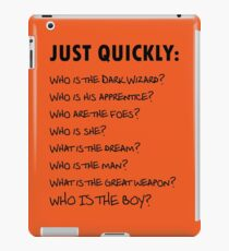 Dirk Gently asks questions  iPad Case/Skin