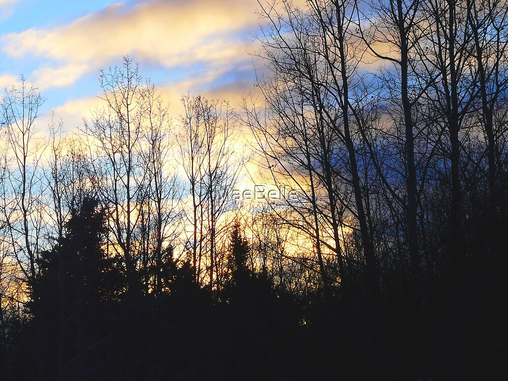 Early Morning Blue Skies and Clouds by MaeBelle