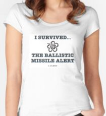 I Survived...The Ballistic Missile Threat Women's Fitted Scoop T-Shirt