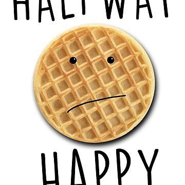 Halfway Happy Waffle by zombiemama